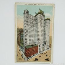 Postales: CITY INVESTING BUILDING, POSTAL NEW YORK CITY, IRVING UNDERHILL Nº 503 H. FINKELSTEIN & SON, AÑOS 30. Lote 225581615