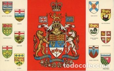 CANADA. ESCUDO DE CANADA Y SUS PROVINCIAS. (Postales - Postales Extranjero - América)