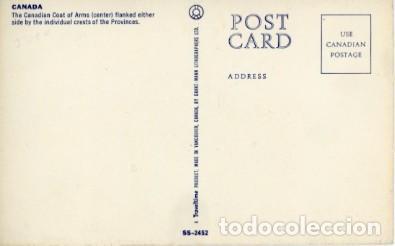 Postales: Canada. escudo de canada y sus provincias. - Foto 2 - 226120485