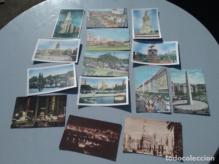 Postales: LOTE DE CATORCE POSTALES ANTIGUAS BUENOS AIRES ARGENTINA - Foto 2 - 226510965