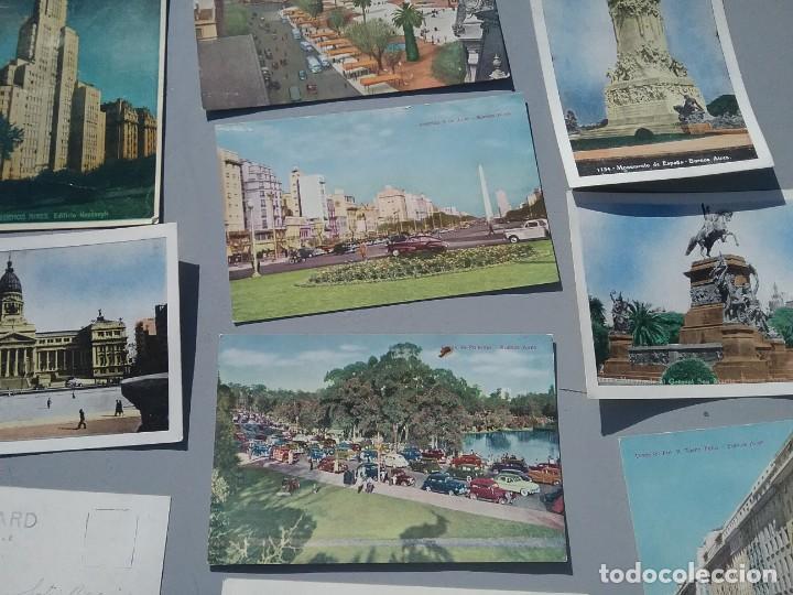 Postales: LOTE DE CATORCE POSTALES ANTIGUAS BUENOS AIRES ARGENTINA - Foto 3 - 226510965