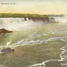 Postales: USA. 73. VISTA GENERAL CATARATAS NIÁGARA. GENERAL VIEW, NIAGARA FALLS. LITHO HARRIS. 1944. 9X14 CM.. Lote 228950420