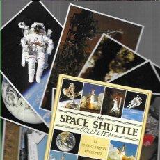 Postales: 12 POSTALES * THE SPACE SHUTTLE COLLECTION * EN SU CARPETA - SERIE COMPLETA. Lote 229071935
