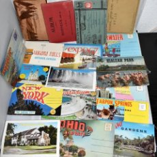 Postales: LOTE 18 POST CARDS, POSTALES, LETTER CARD O POST CARD, ALBUM. USA Y CANADA.9X14 ..ALGUNAS CIRCULADAS. Lote 229741435
