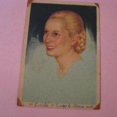 Postales: TARJETA POSTAL DE EVA PERON. EVITA. ESCRITA. 1949. 15,5X10,5 CM.. Lote 232979000