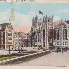 Postales: EEUU COLEGIO DE LA CIUDAD DE NEW YORK 1925 POSTAL CIRCULADA. Lote 236224935