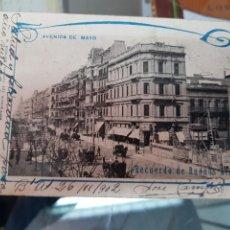 Postales: ANTIGUA POSTAL AVENIDA DE MAYO BUENOS AIRES ARGENTINA 1902. Lote 237287640