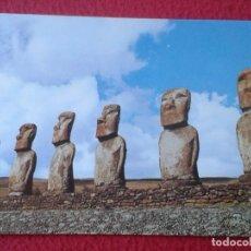 Postales: POST CARD MOAIS ARTE PRECOLOMBINO LOS SIETE MOHAIS DE LA ISLA DE PASCUA RAPANUI RAPA NUI CHILE...VER. Lote 237344125