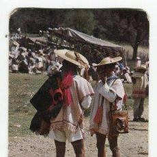 Postales: MEXICO TRAJES TIPICOS ZINACANTAN, CHIAPAS ESCRITA CON SELLOS EN 1985 IMAGEN REVERSO. Lote 238660320