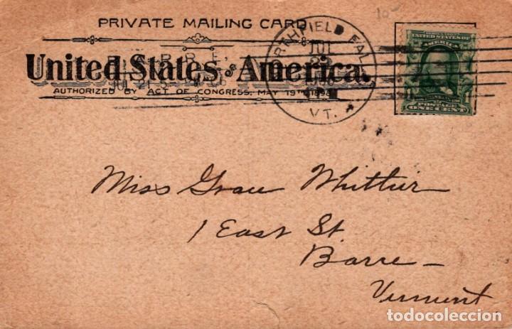 Postales: POSTAL INDIA DE AMERICA DEL NORTE - NAVAJO BLANKET WEAVER AT WORK - TEJEDORA DE MANTAS - SIN DIVIDIR - Foto 2 - 240206985