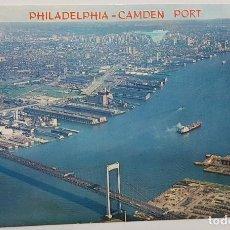 Postales: POSTAL PHILADELPHIA CAMDEN PORT NEW JERSEY. WYCO. CIRCULADA ESCRITA 1968. Lote 240909090