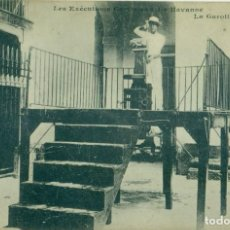 Postales: CUBA. CARCEL DE LA HABANA. GARROTE VIL PARA EJECUCIÓN DE PRESOS. HACIA 1900. MUY RARA.. Lote 242366860