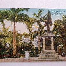 Postales: COLOMBIA - CARTAGENA - PARQUE BOLÍVAR - P46876. Lote 243815550
