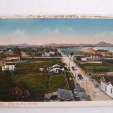 Postales: BRASIL - ALREDEDORES DE SANTOS - HOTEL Y PLAYA DE MININO - P46897. Lote 243819335