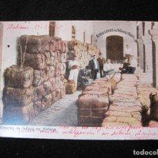 Postales: CUBA-LA HABANA-ALMACEN DE TABACO-REVERSO SIN DIVIDIR-POSTAL ANTIGUA-(77.794). Lote 244433845