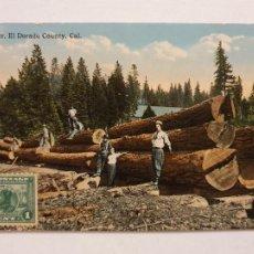 Postales: ESTADOS UNIDOS - LEÑADORES - EL DORADO CALIFORNIA - P47557. Lote 246020810