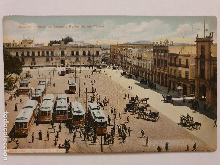 MÉXICO - PLAZA DE ARMAS - TRANVÍA - P47563 (Postales - Postales Extranjero - América)