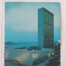 Postales: NEW YORK 1978 - UNITED NATIONS BUILDING - ALFRED MAINZER Nº 153 - CIRCULADA. Lote 246103830