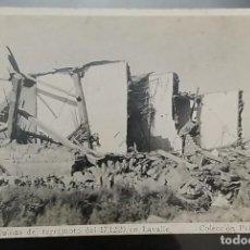 Postales: O) 1920 ARGENTINA, TARJETA RARA. LAS RUINAS DEL TERREMOTO DE MENDOZA OCURRIERON DICIEMBRE DE 1920. M. Lote 246143890