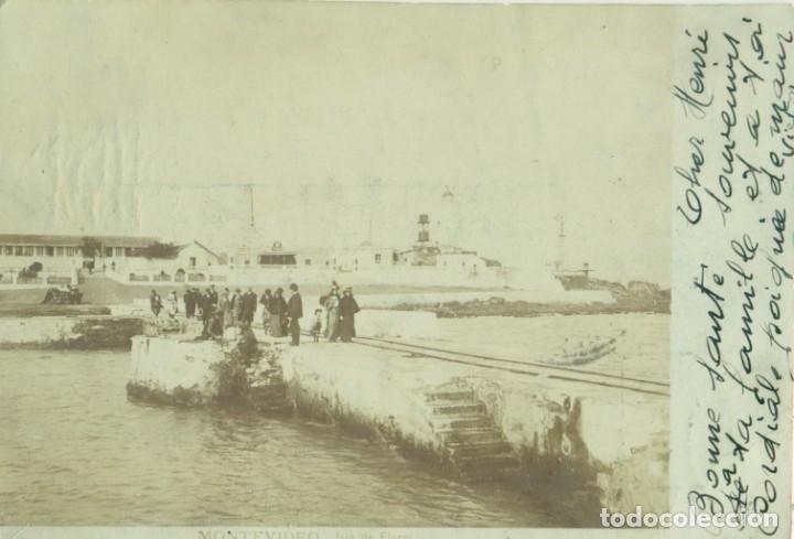 URUGUAY. ISLA DE FLORES. FOTOGRÁFICA. CIRCULADA A FRANCIA EN 1904. (Postales - Postales Extranjero - América)