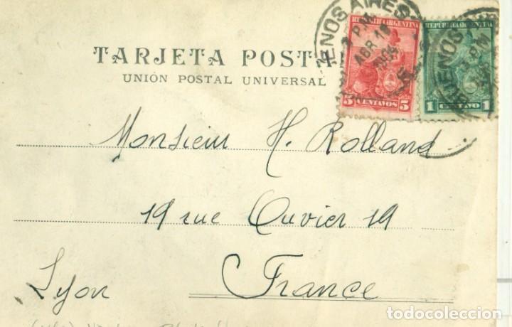 Postales: URUGUAY. ISLA DE FLORES. FOTOGRÁFICA. CIRCULADA A FRANCIA EN 1904. - Foto 2 - 253557945