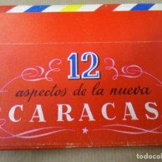 Postales: 12 ASPECTOS DE LA NUEVA CARACAS 3 MAYO 1956 CARPETA DE FOTOS PRECIOSA Y COMPLETA LA NUEVA CARACAS. Lote 254775445