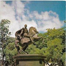 Postales: ANTIGUA POSTAL DE CARACAS CIRCULADA MONUMENTO DE SIMON BOLIVAR. Lote 257858875