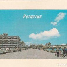 Postales: POSTAL VISTA PARCIAL DEL MALECON DE VERACRUZ (MEXICO). Lote 261586185