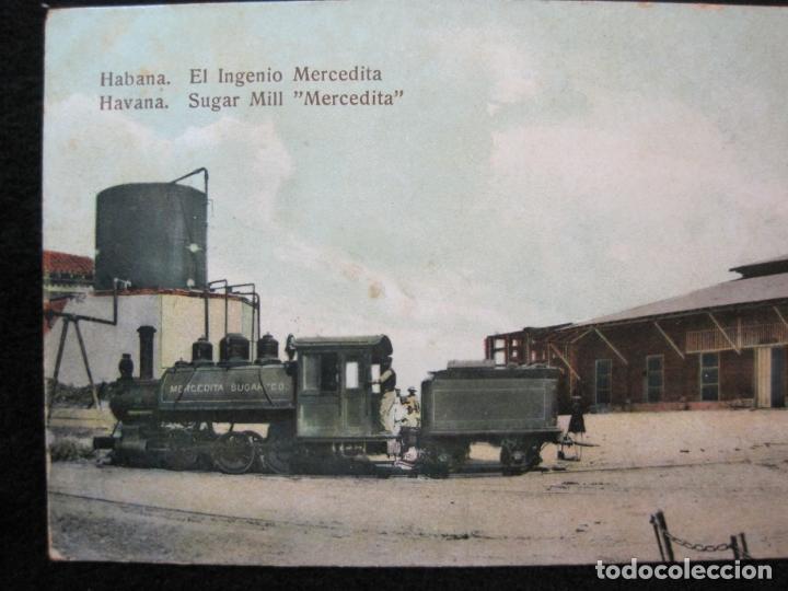 Postales: CUBA-HABANA-EL INGENIO MERCEDITA-FERROCARRIL-REVERSO SIN DIVIDIR-POSTAL ANTIGUA-(80.388) - Foto 2 - 262281450