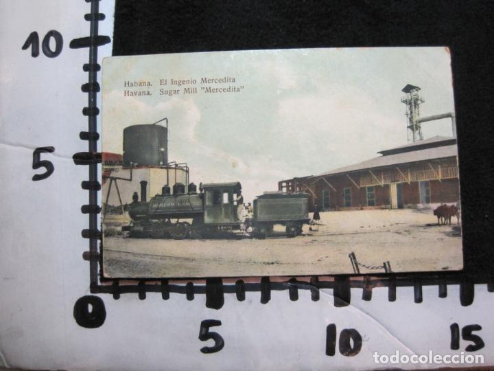 Postales: CUBA-HABANA-EL INGENIO MERCEDITA-FERROCARRIL-REVERSO SIN DIVIDIR-POSTAL ANTIGUA-(80.388) - Foto 4 - 262281450