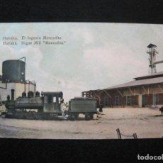 Postales: CUBA-HABANA-EL INGENIO MERCEDITA-FERROCARRIL-REVERSO SIN DIVIDIR-POSTAL ANTIGUA-(80.388). Lote 262281450