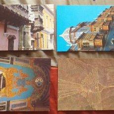 Postales: PERU-V54-LIMA-VISTA DEL PALACIO TORRE TAGLE-CASA DE OSAMBELA-TUMBA F.PIZARRO-NAZCA-GEOGLIFO. Lote 262601255