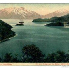 Postales: 1911 - TARJETA POSTAL DE CHILE - ESTRECHO DE MAGALLANES - EDICION DE ADOLFO CONRADS. Lote 262648100