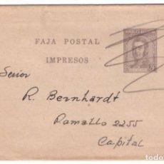 Postales: FAJA POSTAL DE ARGENTINA CIRCULADA. Lote 262649180