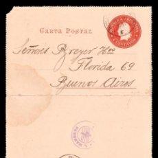 Postales: 1901 - CARTA POSTAL DE ARGENTINA. Lote 262654805