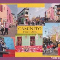 Postales: POSTAL CAMINITO. COLORIDA Y PARTICULAR CALLE DE LA BOCA. BUENOS AIRES (ARGENTINA). Lote 262805720