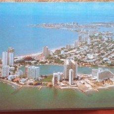 Postales: COLOMBIA-V54-CARTAGENA-PANORAMICA LAGUITO Y BOCAGRANDE. Lote 262820050