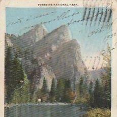 Postales: ESTADOS UNIDOS & CIRCULADO, TRES HERMANOS, VALLE YOSEMITE, LONG BEACH A SETÚBAL PORTUGAL 1922 (314). Lote 262865795