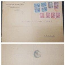 Postales: O) 1925 COLOMBIA. CANCELACIÓN SCADTA CARTAGENA EN ROJO, SCADTA PLANE SOBRE CATEDRAL DE BOGOTA, SIMON. Lote 263077985
