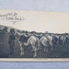 Postales: MEMORIAS DE COSTA RICA LA CABALLERIA BONITO REVERSO MILITAR. Lote 263535135