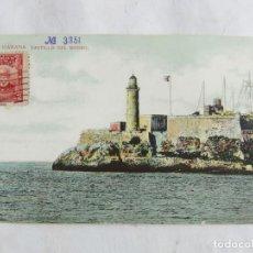 Postales: POSTAL DE LA HABANA, CUBA, CASTILLO DEL MORRO, FARO, LIGHT HOUSE, CIRCULADA. ED. JC.. Lote 263553695