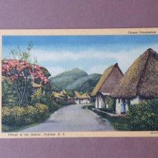 Postales: POSTAL GENUINE CURTEICH CHICAGO C. T. ART COLORTONE. CHOZAS PANAMENAS. PANAMA. ESCRITA SIN CIRCULAR.. Lote 265519674
