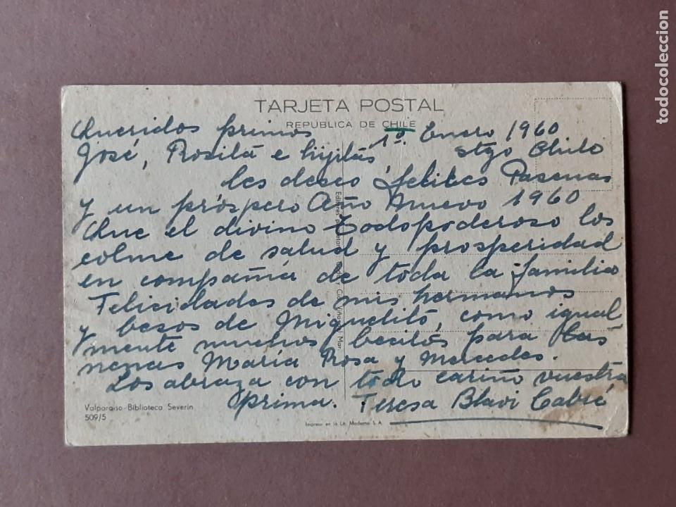 Postales: POSTAL 509/5 CODA Y CÍA. BIBLIOTECA SEVERÍN. VALPARAISO. CHILE. ESCRITA SIN CIRCULAR 1960. - Foto 2 - 265525549