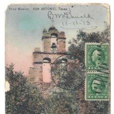 Postales: SAN ANTONIO (ESTADOS UNIDOS) - MISION DE SAN JUAN CAPISTRANO - CIRCULADA EN 1913. Lote 266154533