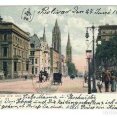 Postales: NEW YORK CITY (ESTADOS UNIDOS) - QUINTA AVENIDA - CIRCULADA EN 1908. Lote 266154713