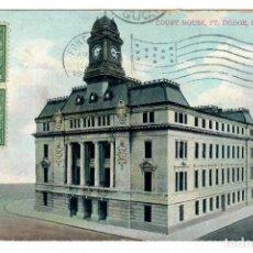 Postales: FORT DODGE (ESTADOS UNIDOS) - PALACIO DE JUSTICIA - CIRCULADA. Lote 266155168