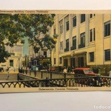 Postales: CARACAS (VENEZUELA) POSTAL EDIFICIO GOBERNACIÓN. (A.1937) DEDICADA…. Lote 269179918