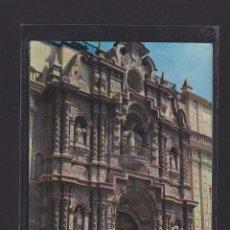 Postales: POSTAL DE PERU - FRONTISPICIO DEL TEMPLO DE LA MERCED. LIMA. Lote 269415278
