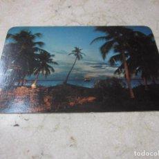 Postales: POSTAL ESCRITA JARDIN HOTEL PRESIDENTE CANCUN MEXICO - AÑOS 80. Lote 269572423