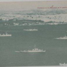 Postales: LOTE A-POSTAL BARCOS GUERRA BUQUES MILITAR PUERTO DE CALLAO LIMA PERU AÑO 1949. Lote 274377133